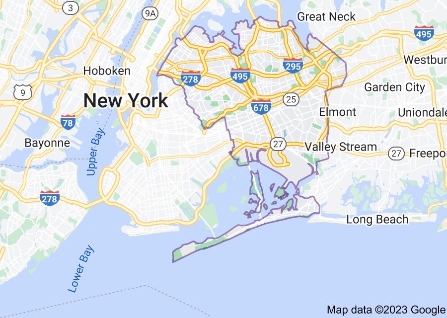 Location of Queens