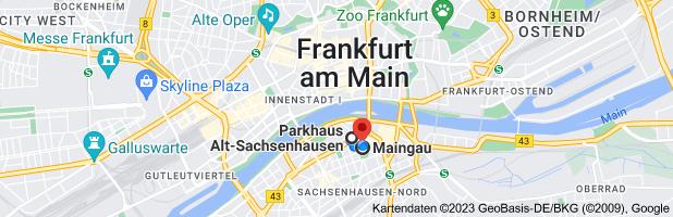 Karte nach Frankfurt am Main