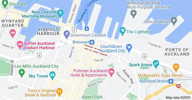 Location of Customs Street East