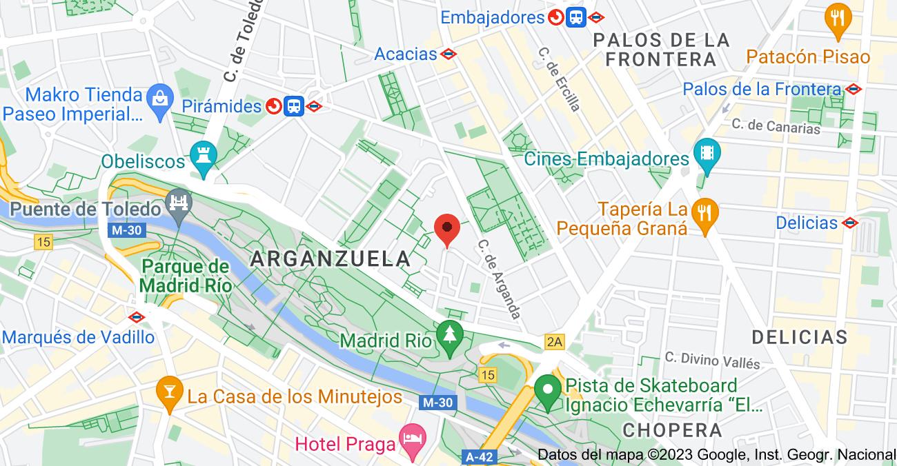 Mapa de Calle de las Naves, 12, 28005 Madrid