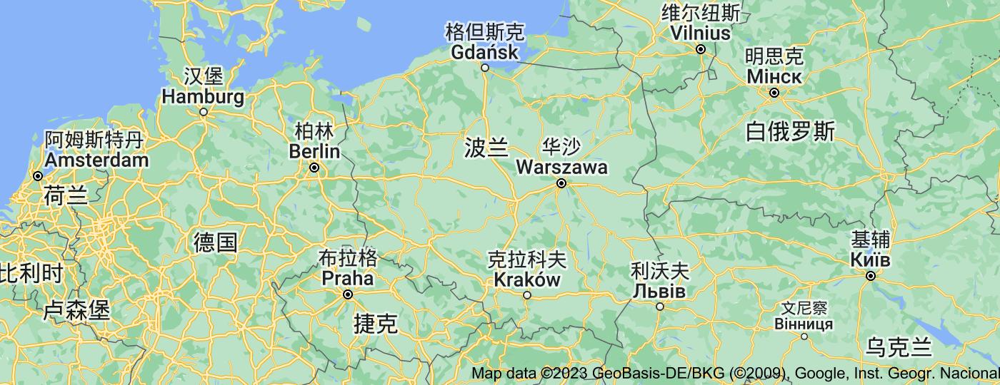 Location of 波兰