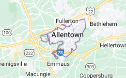 Map of Allentown