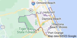 Map of Daytona Beach