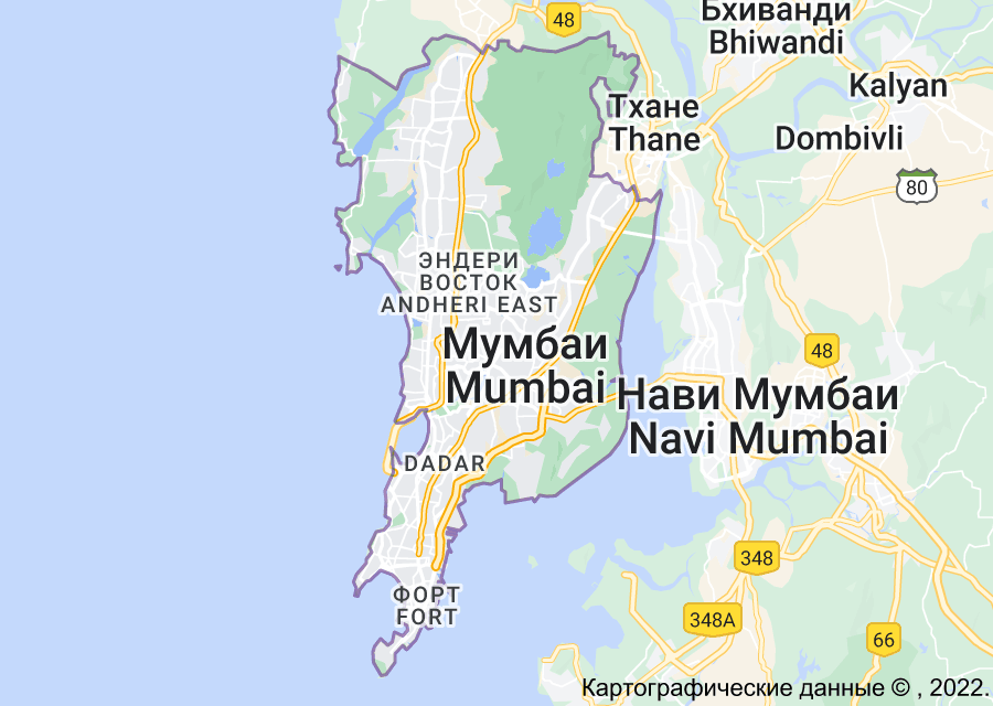 Location of Мумбаи