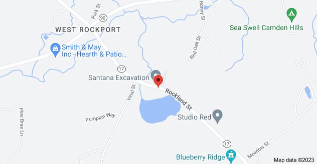 Map of 468 Rockland St, Rockport, ME 04856