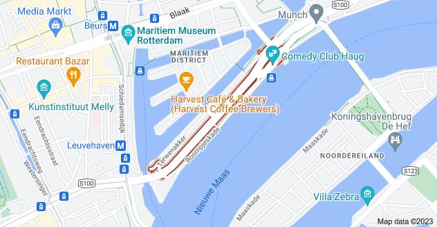 Map of Boompjes, Rotterdam