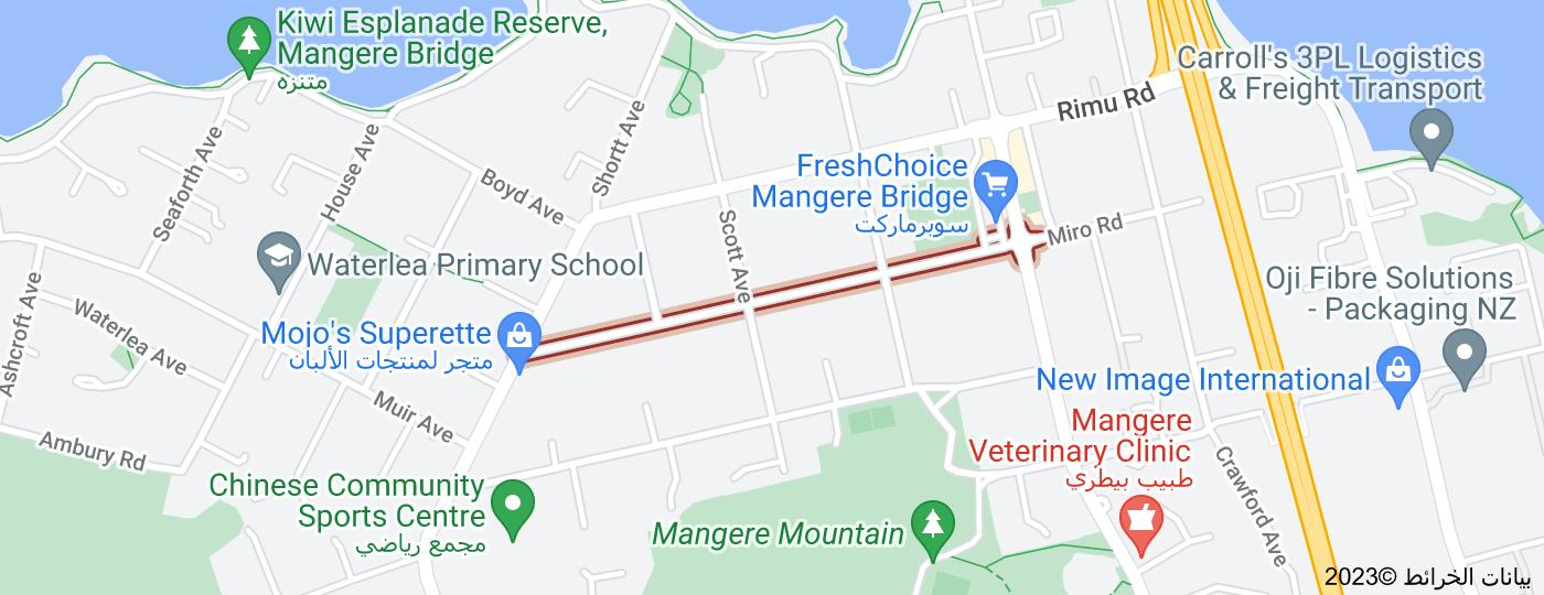 Location of McIntyre Road