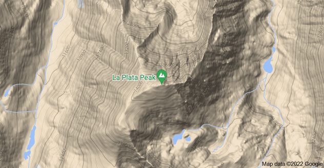Map of La Plata Peak, Colorado 81211