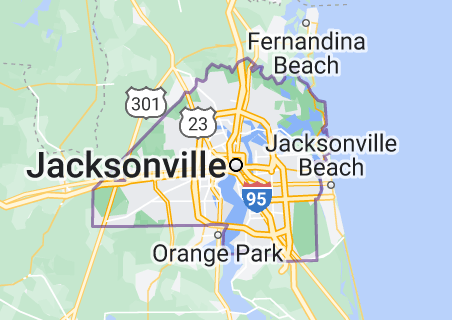 Map of Jacksonville, Florida