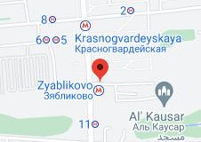 Location of Zyablikovo