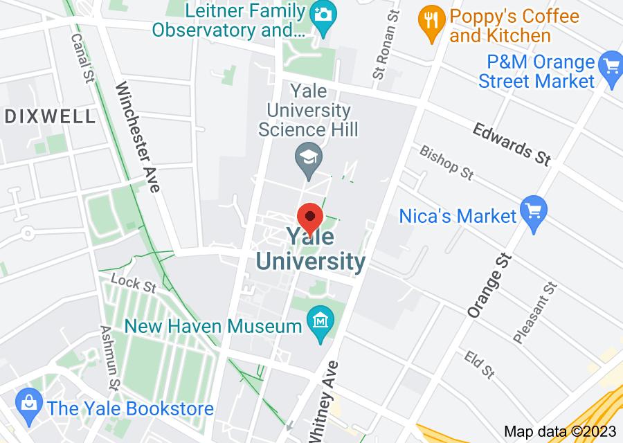 Location of Yale University