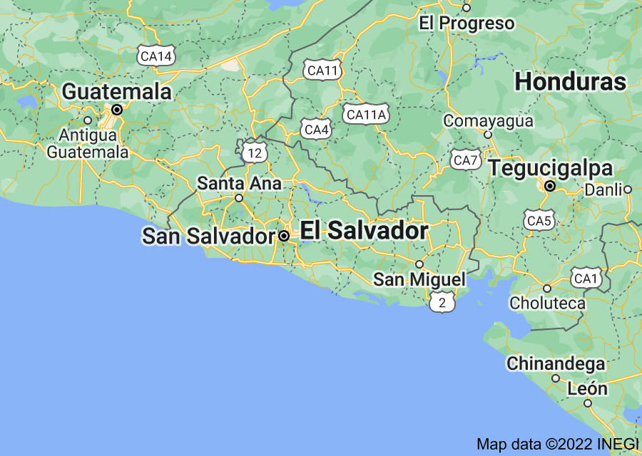 Location of El Salvador