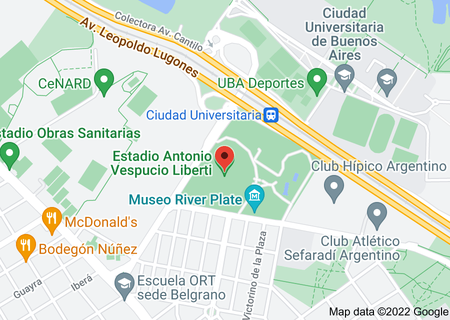 Location of Estadio Monumental Antonio Vespucio Liberti