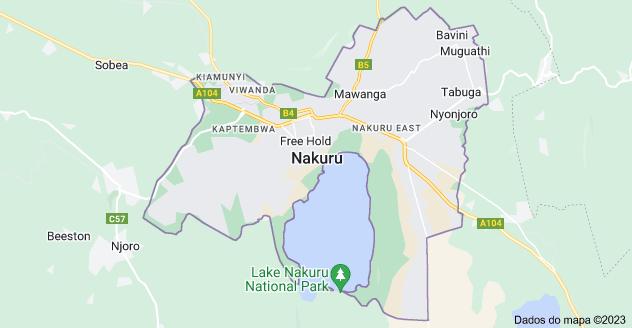 Mapa de Nakuru, Quênia
