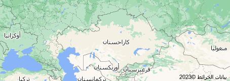 Location of كازاخستان