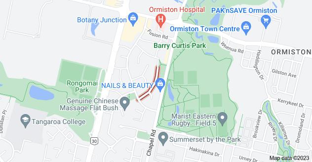 Location of Frank Bunce Grove