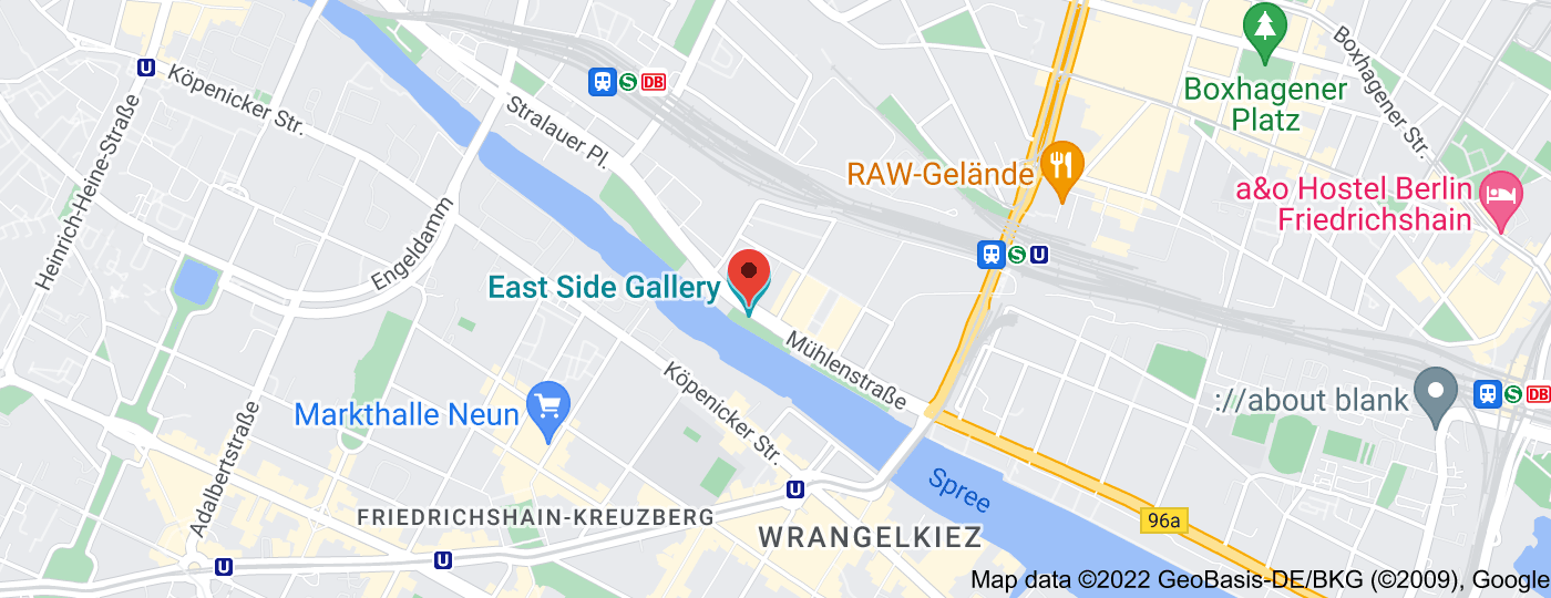 Location of East Side Gallery