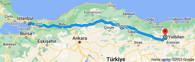 VarıÅ? noktası Yolbilen, 29700 Yolbilen Köyü/Şiran/GümüÅ?hane olan harita