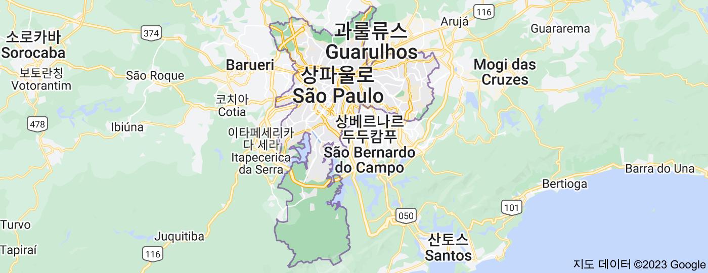 Location of 상파울루