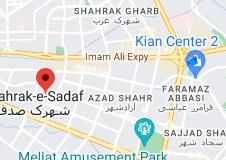 Map of صالون تجمیل للسیدات فی مشهد