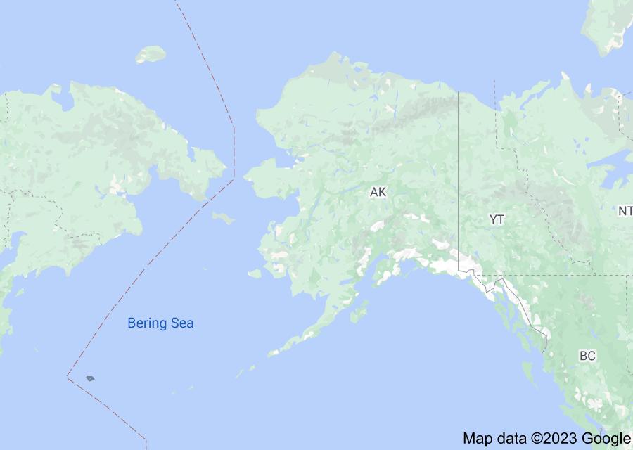 Location of Alaska