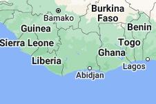 Location of Côte d'Ivoire