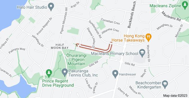 Location of Glennandrew Drive