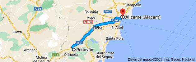 Mapa de Redován, 03370, Alicante a Alicante