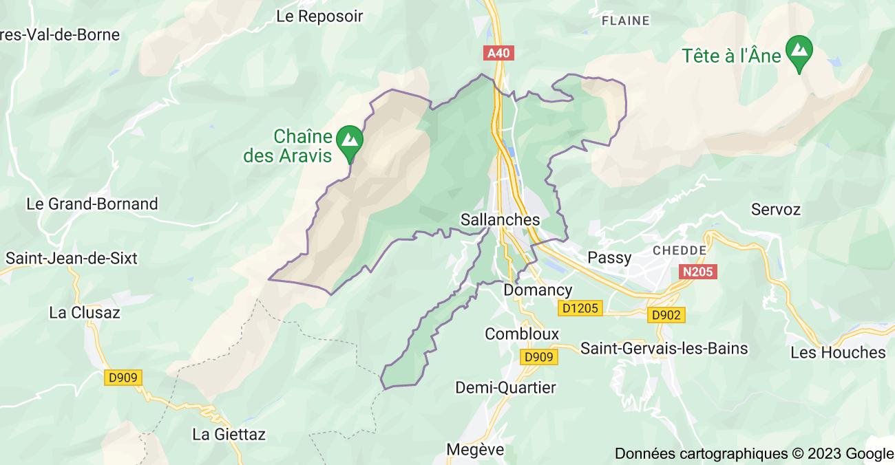 74700 Sallanches: carte