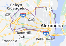 Map of Alexandria, Virginia