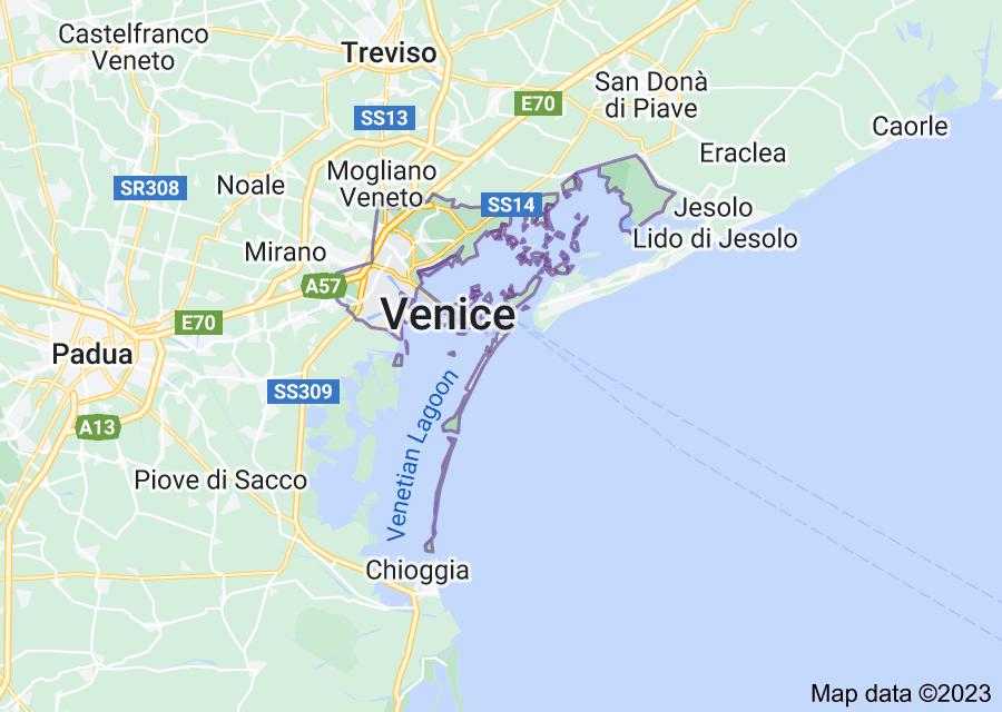 Location of Venice