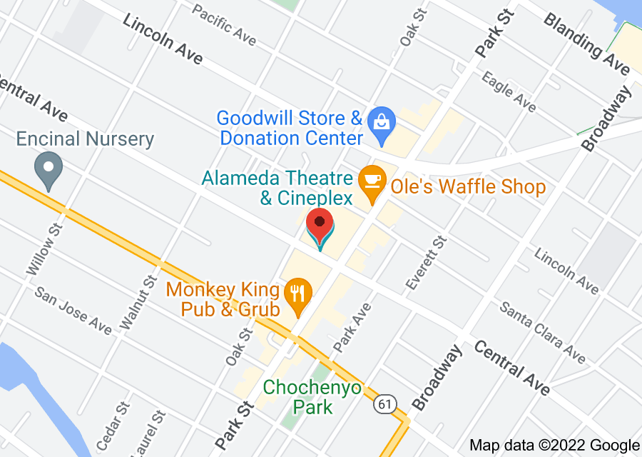 Location of Alameda Theatre & Cineplex