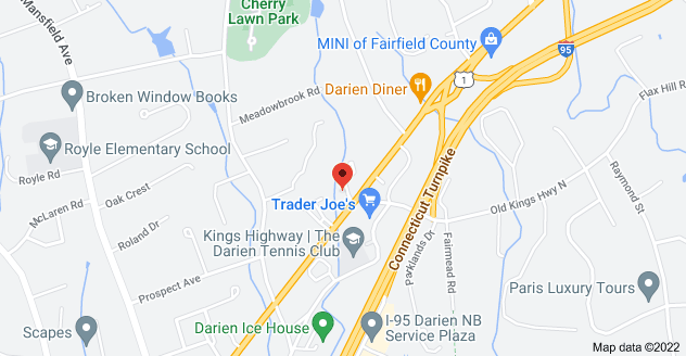 Map of 455 Post Rd, Darien, CT 06820