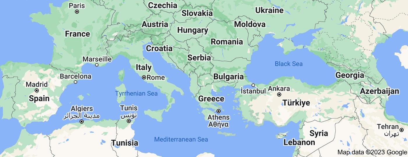 Location of Balkans