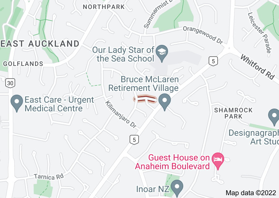 Location of Mount Blanc Place