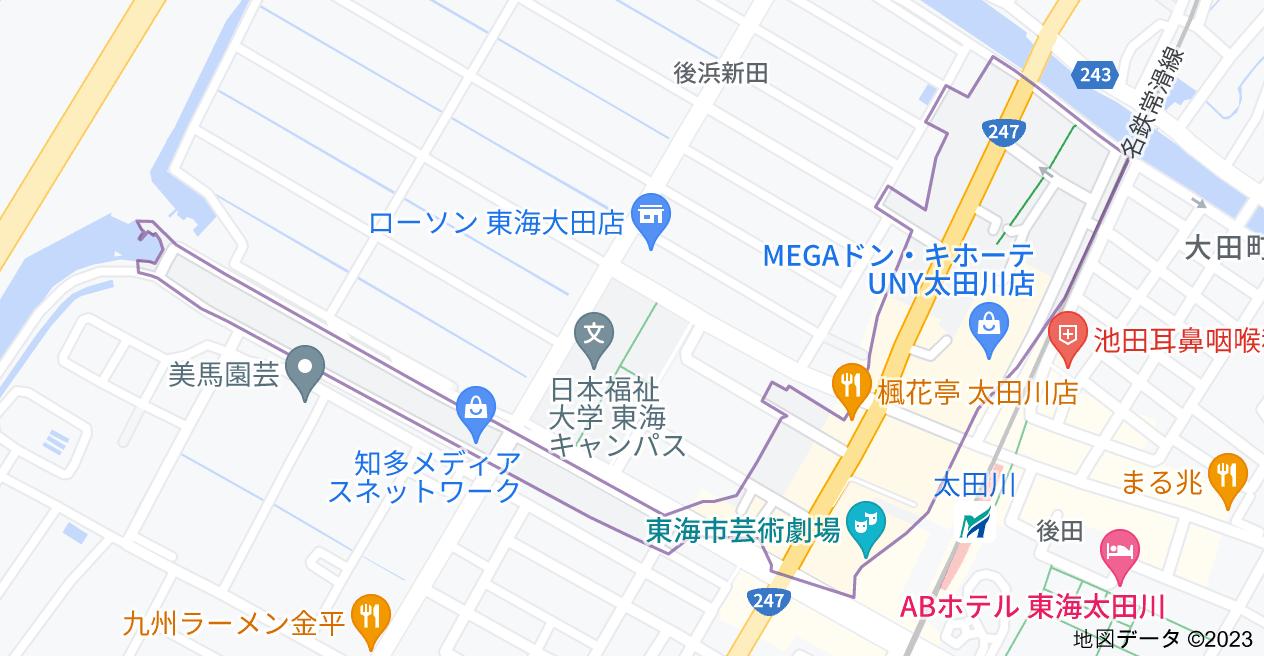 〒477-0031 愛知県東海市大田町下浜田の地図