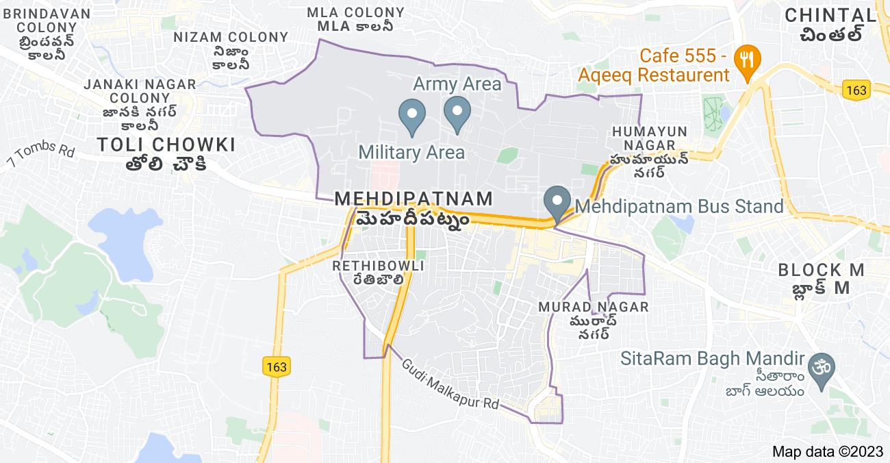 Map of Mehdipatnam, Hyderabad, Telangana, India
