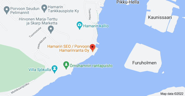 Map of Hamarintie 1, Porvoo