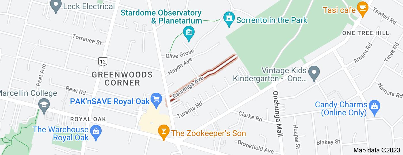 Location of Raurenga Avenue