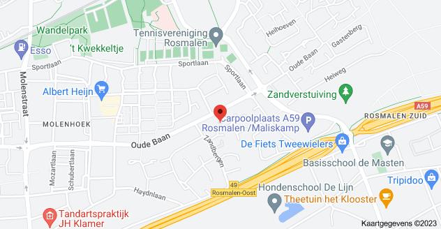 Kaart van Heirust 12, 5242 JK Rosmalen