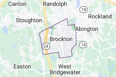 Map of Brockton, Massachusetts
