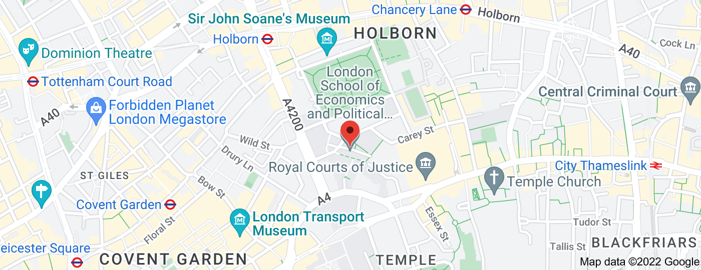 Location of London School of Economics and Political Science