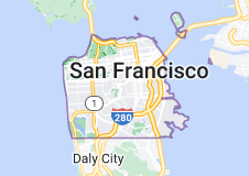 Location of San Francisco