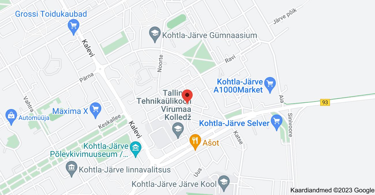 Asukoha Lydia Koidula 3, Kohtla-Järve, 30325 Ida-Viru maakond kaart