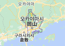 Location of 오카야마시