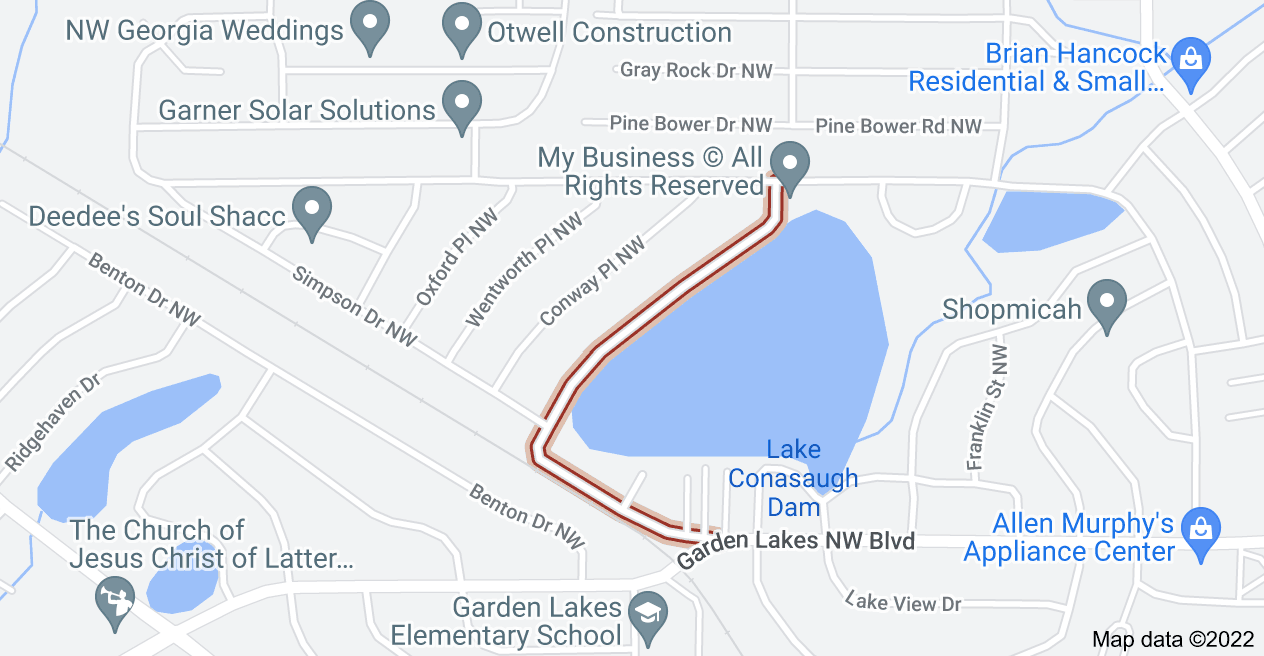 Map of Shoreline Dr NW, Rome, GA 30165