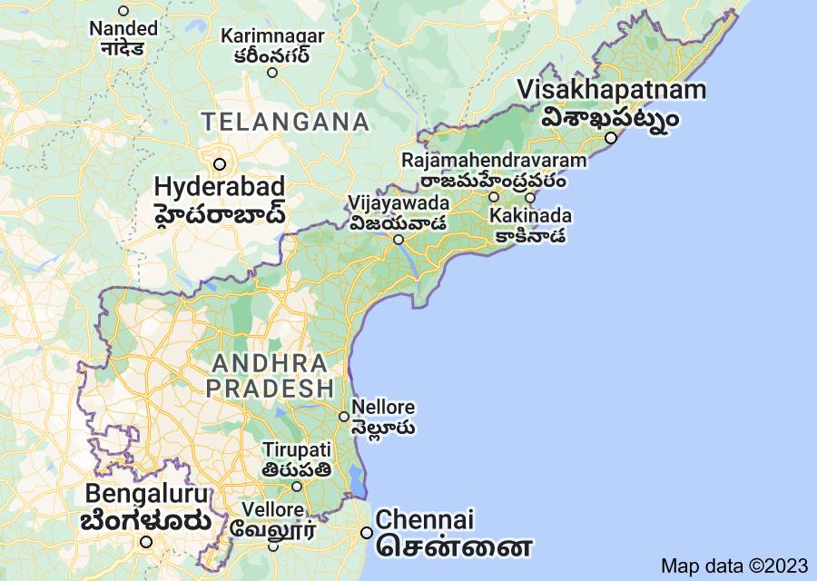 Location of Andhra Pradesh