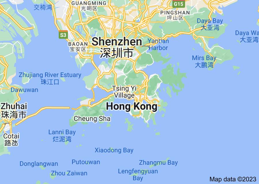 Location of Hong Kong
