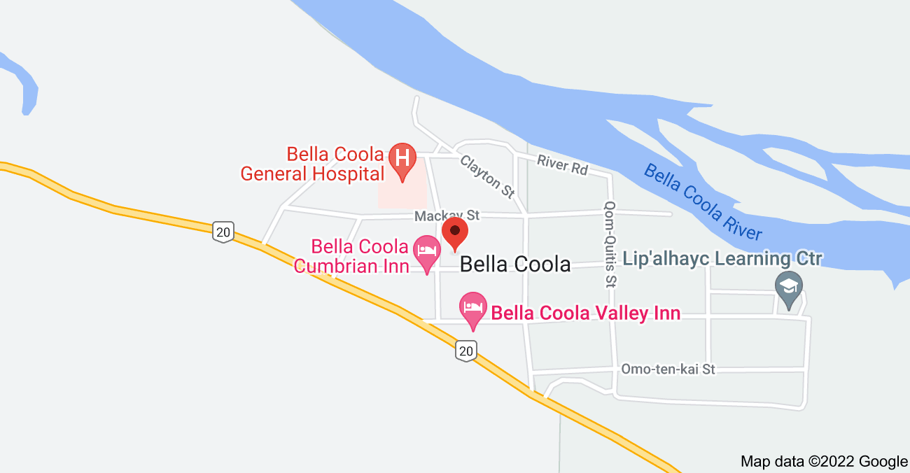 Map of 626 Cliff St, Bella Coola, BC