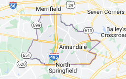 Map of Annandale
